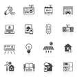 Smart home icons black vector image