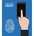 Finger print design vector image
