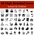 School and Children Smooth Icons vector image vector image