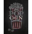 Poster popcorn black vector image