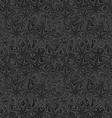 Black seamless twisted star pattern background vector image vector image