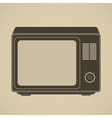 Silhouette of retro tv set vector image vector image