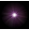 Bright Sparkling Star Background vector image vector image