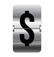 Alphabet silver flipboard letters dollar vector image