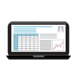 Business infographics image on a black laptop vector image