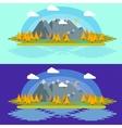Flat design nature landscape with vector image