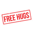 Free hugs rubber stamp vector image