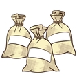 sacks of flour sugar and salt vector image
