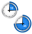 Seconds timer vector image