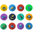 Set of electrical work tools icons vector image