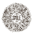 SMILE greeting card vector image