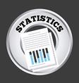 statistics button vector image