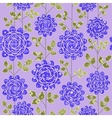 Seamless background with dark blue roses vector image vector image