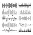 music sound waves pulse abstract audio vector image