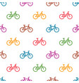 seamless pattern with colorful bikes vector image