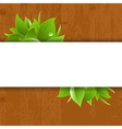 Wood Background With Leaves vector image vector image
