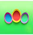 Background with colorful 3d Easter egg vector image vector image