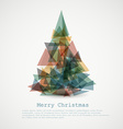 card with abstract retro christmas tree vector image vector image