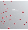 Background with plastic buttons with red dots vector image