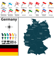 Germany map with flags vector image vector image