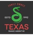 snake vintage emblem design template vector image