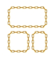 Gold Chain Frames vector image