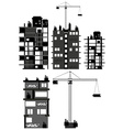 Buildings and construction equipment vector image