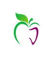 apple abstract organic food logo vector image