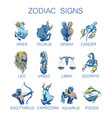 collection of all zodiac signs vector image