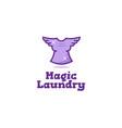 creative laundry logo vector image