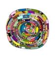 Ethnic spiral mandala sketch for your design vector image