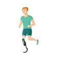 man sportsman with prosthesis artificial leg vector image