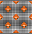 plaid material button seamless pattern vector image