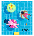 poster summer pool vector image