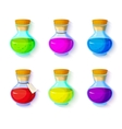 Set of elixirs icons vector image