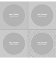 Set of White Dots Frames on Gray Background vector image