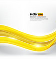 Abstract background Ligth gold curve and wave vector image