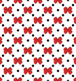 Seamless pattern background with handdrawn bows vector image