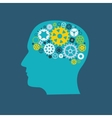 Machine Gear Wheel Cogwheel Human Brain Concept vector image vector image