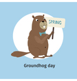 groundhog day 1 07 vector image