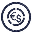 currency diagram rounded grainy icon vector image