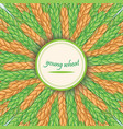 green wheat stalkscircular ornament with spike vector image