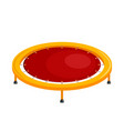 bright childrens trampoline on a white vector image vector image