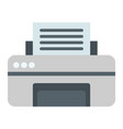 printer flat icon fax and office vector image