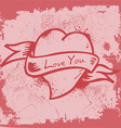 Vintage Heart Label vector image