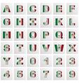 mexico alphabet vector image