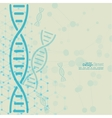 Abstract background with DNA molecule structure vector image