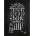 Poster popcorn salt chalk vector image