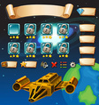 Game template with galaxy background vector image vector image