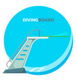 diving board or springboard used for snorkeling vector image